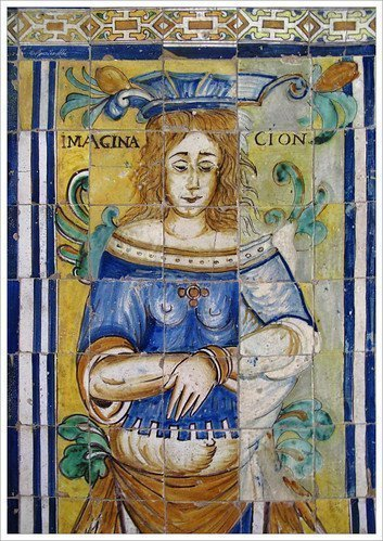 Seville tours. Beautiful images to discover in Seville. Tiles of The Thought and The Imagination