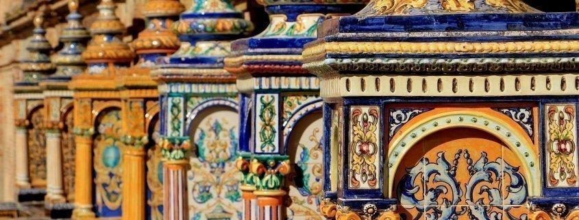 azulejos de la plaza de españa