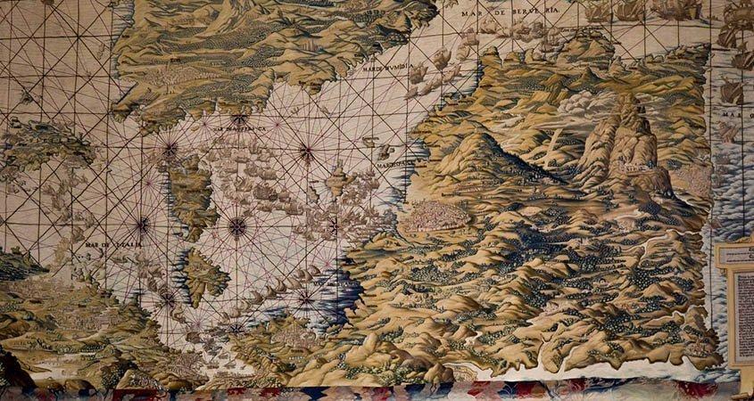 El tapiz del mapa de los Reales Alcázares